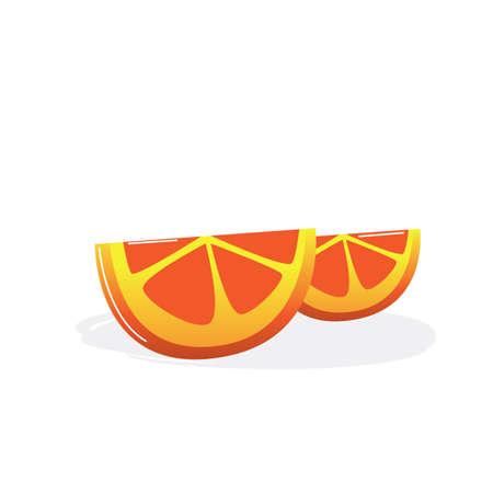 オレンジ スライス  イラスト・ベクター素材