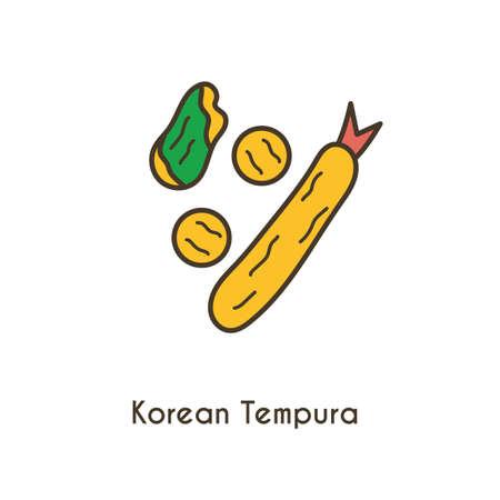 korean tempura Illustration