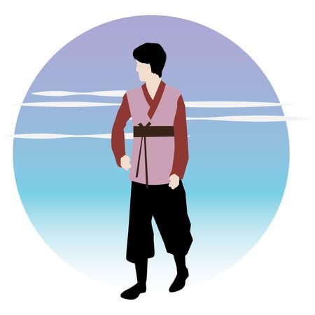 man in traditional korean attire