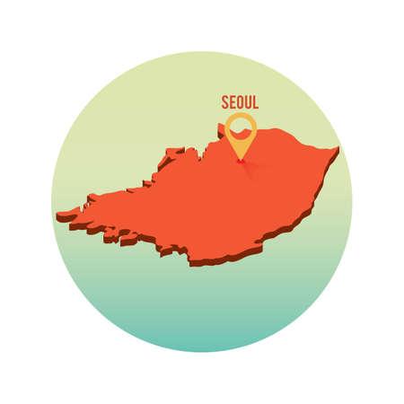 seoul location pin
