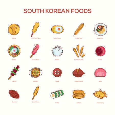 set of south korean foods