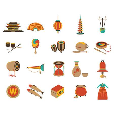 set of south korea icons