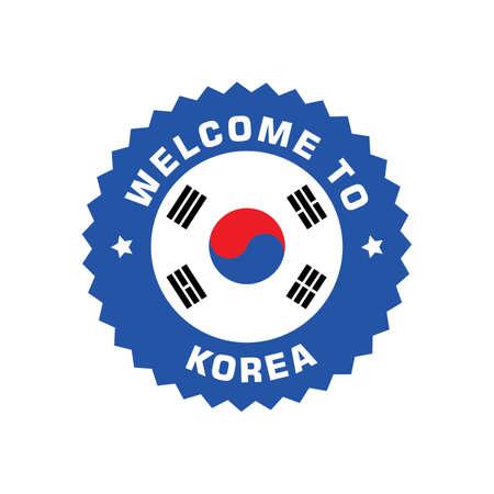한국 레이블에 오신 것을 환영합니다. 스톡 콘텐츠 - 79156982