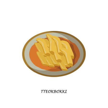 Tteokbokki Stock Illustratie