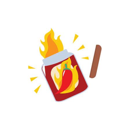 chili sauce: Hot sauce Illustration