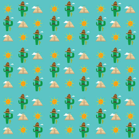 mexico pattern design Illustration