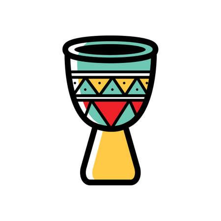 traditionele Mexicaanse trommel Stock Illustratie