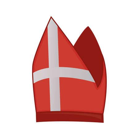 Cappello del papa Vettoriali