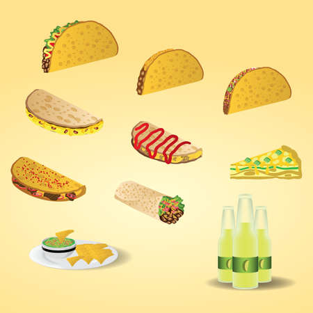 set of mexico icons Иллюстрация