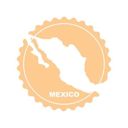 メキシコのラベル デザイン  イラスト・ベクター素材