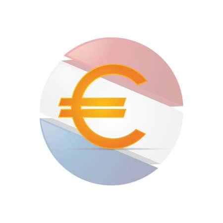 欧州連合の通貨記号  イラスト・ベクター素材