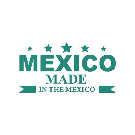 Conception d'étiquette de produit de mexique Banque d'images - 79163189