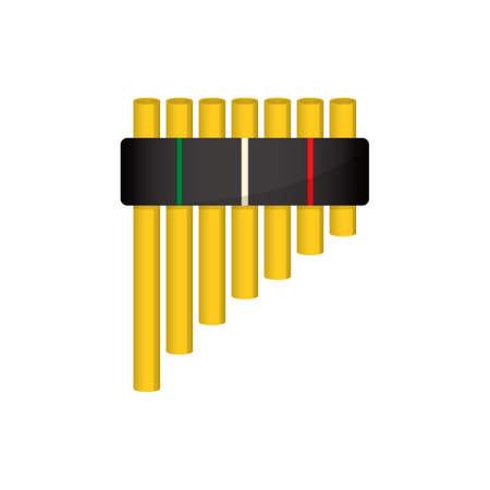 flauta de pan Vectores