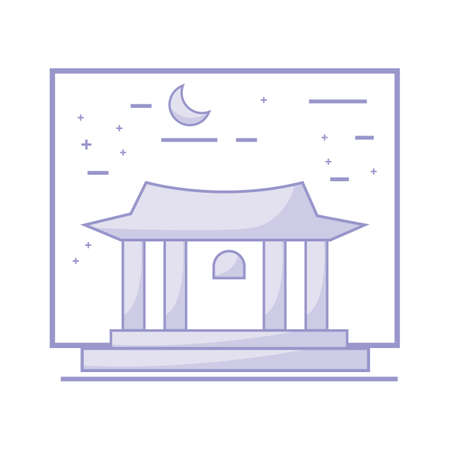 deoksugung palace Illustration