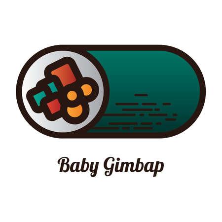 baby gimbap Stock Vector - 79163244