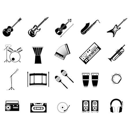 楽器のセット 写真素材 - 79154270