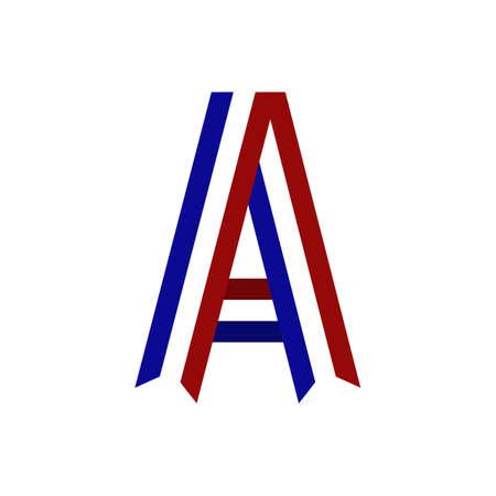 netherlands ribbon alphabet a
