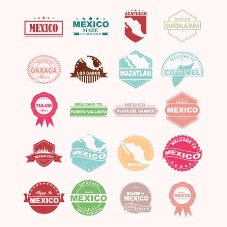 guadalajara: set of mexico icons Illustration