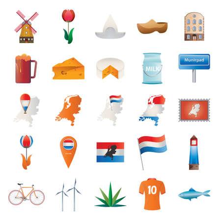 set of netherlands icons Ilustração