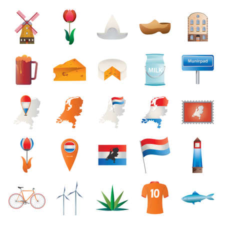set of netherlands icons Illustration