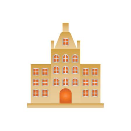 famous building in netherlands Illustration