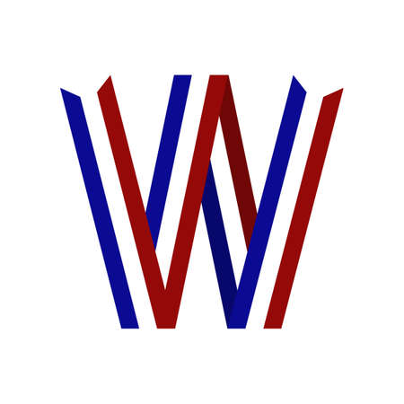 netherlands ribbon alphabet w