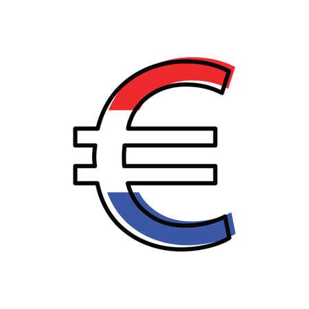 euro currency symbol Foto de archivo - 106675218