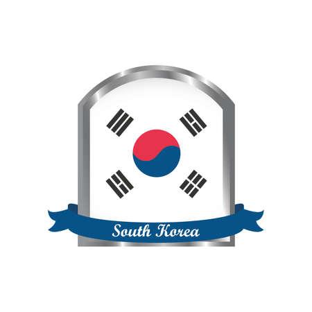 korean flag label