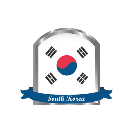 korean flag label