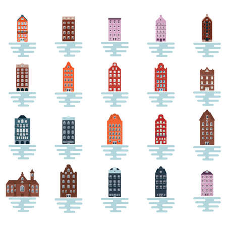 collection of building icons Stok Fotoğraf - 79175202