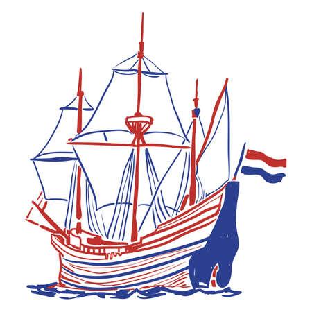 zeil schip Stock Illustratie