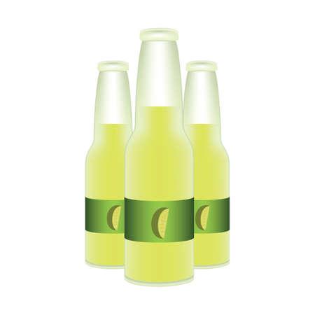 ライム ジュースのボトル  イラスト・ベクター素材