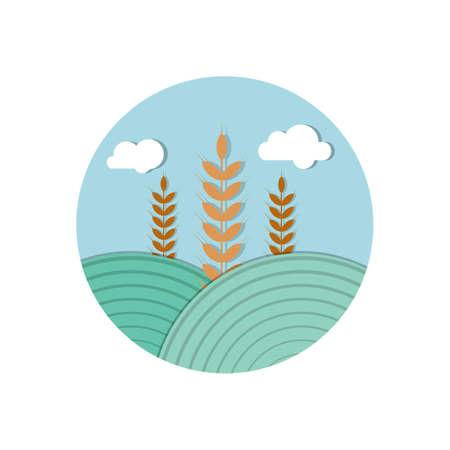 wheatfield Ilustracja