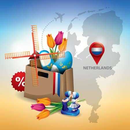 map of netherlands: netherlands Illustration