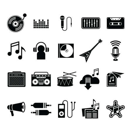 collection of music icons Banco de Imagens - 79160247