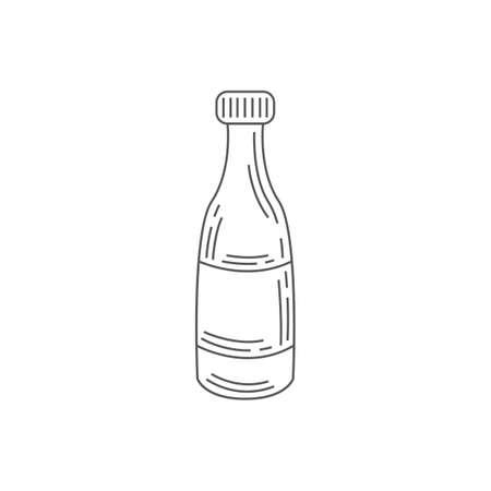 bottle of soda drink Illusztráció