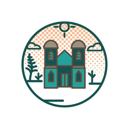 ラタナ教会  イラスト・ベクター素材