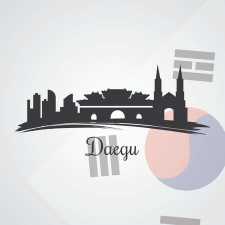 Daegu skyline silhouet