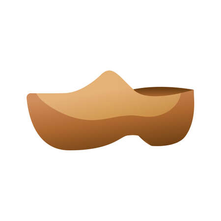 european culture: wooden clogs Illustration