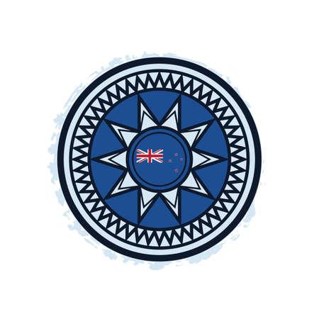 Nieuw-Zeeland vlag ontwerp Stock Illustratie