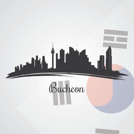 bucheon skyline silhouet