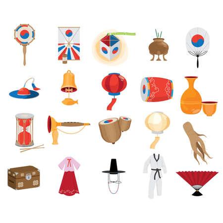 Raccolta di icone del sud coreano