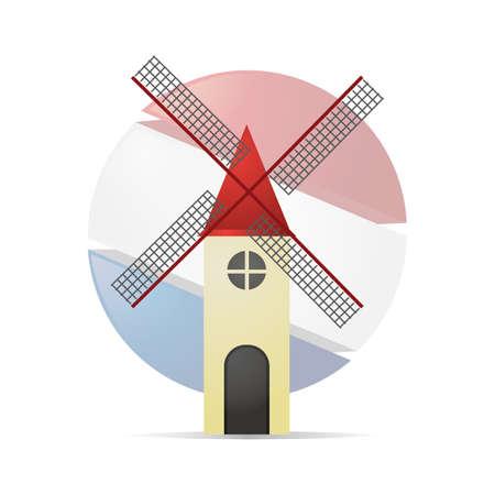 windmill kinderdijk Banco de Imagens - 79186797