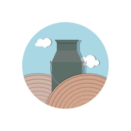 milk can Ilustracja