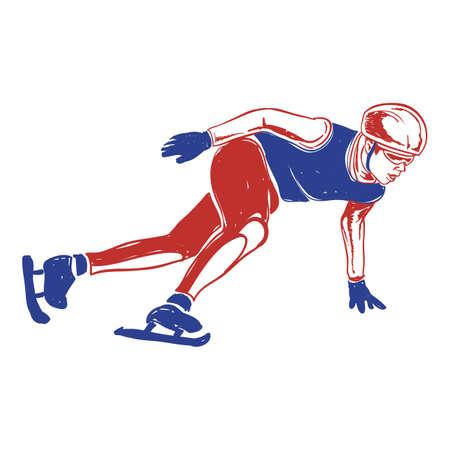 ice skater Ilustrace