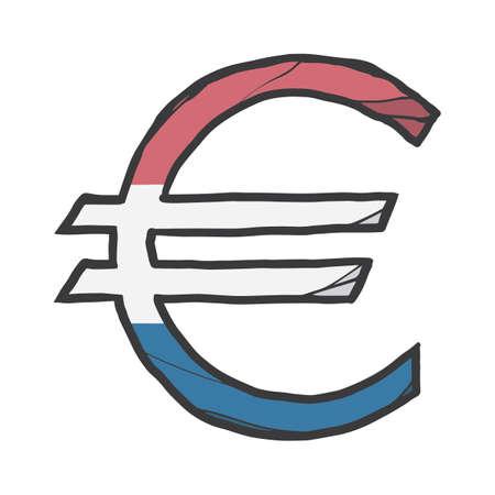 Euro-Währungssymbol Standard-Bild - 79186830