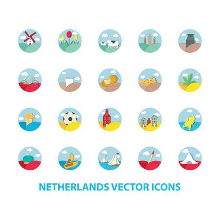 netherlands vector icons Illustration