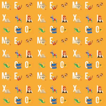 mexico pattern design Çizim