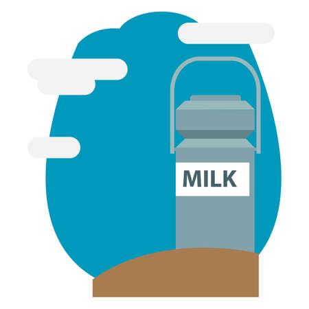 ミルク缶します。  イラスト・ベクター素材
