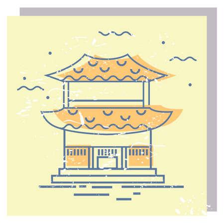 興仁之門  イラスト・ベクター素材